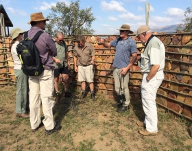 SMS project members removing snares
