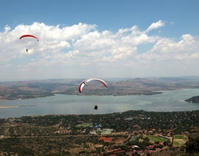 Scenic HARTBEESPOORT CABLEWAY VIEW OF DAM -JOHN WESSON